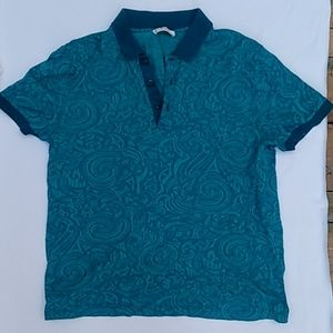 Versace Collection teal short sleeve polo